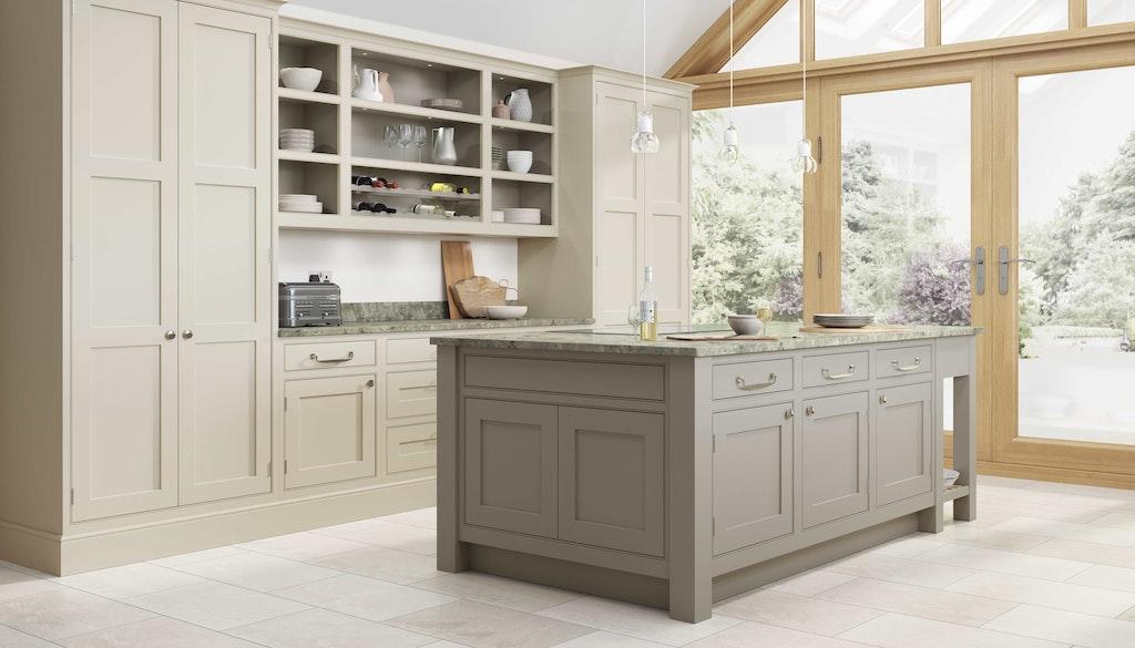 Classic interiors shaker kitchen island