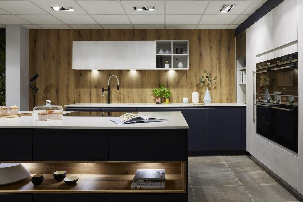 Natural Wood Panelled Kitchen